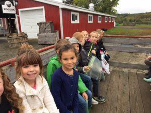 kids on a wagon ride