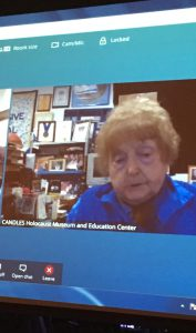 Eva Kor speaks to students at area school districts