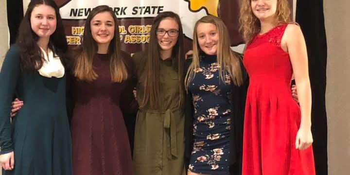 girls honored at dinner
