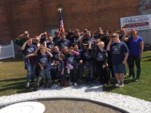 students outside American Legion