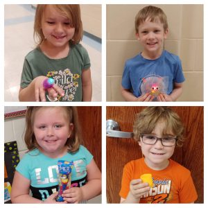 Elementary students with rewards