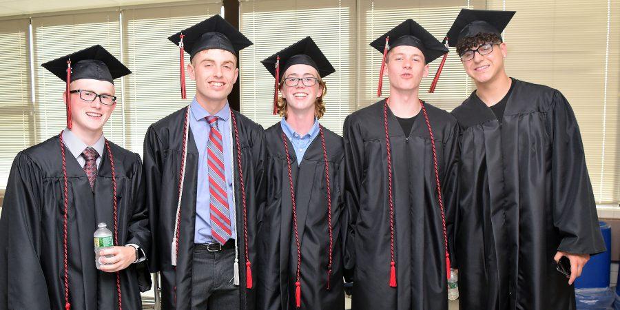 Student photo at graduation