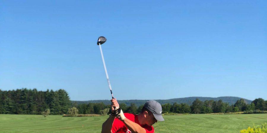Varsity Golf Player Von Baker