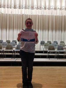 EmmaJo Schmidtmann Spelling Bee Champion