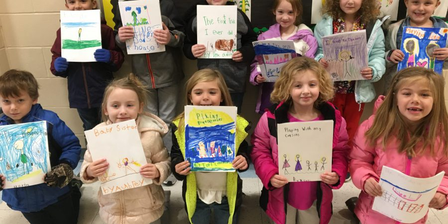 First grade with writings