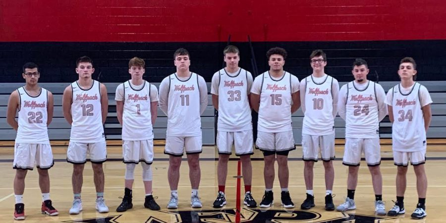 2019-2020 Varsity Boys Basketball team