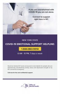 COVID state help line