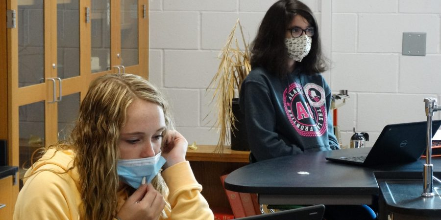 Students focus in class