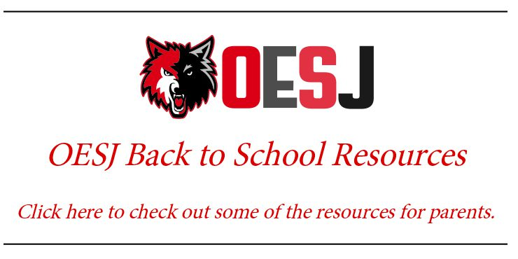 OESJ back to school resources