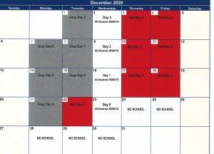 december calendar for OESJ