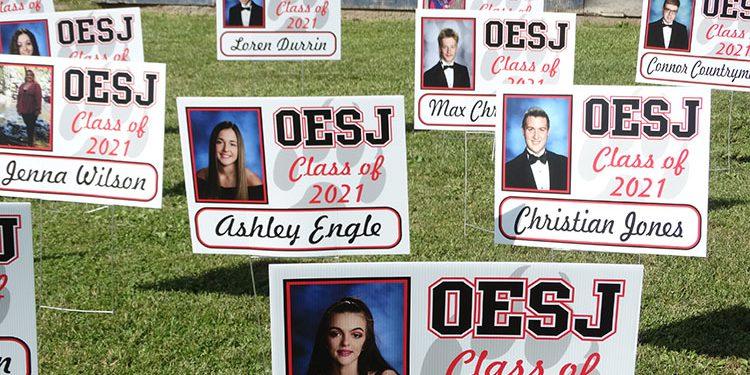 OESJ graduation photo placards