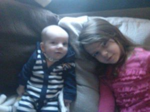 pic of student and baby brother