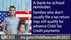 2021 Advance Child Tax Credit info