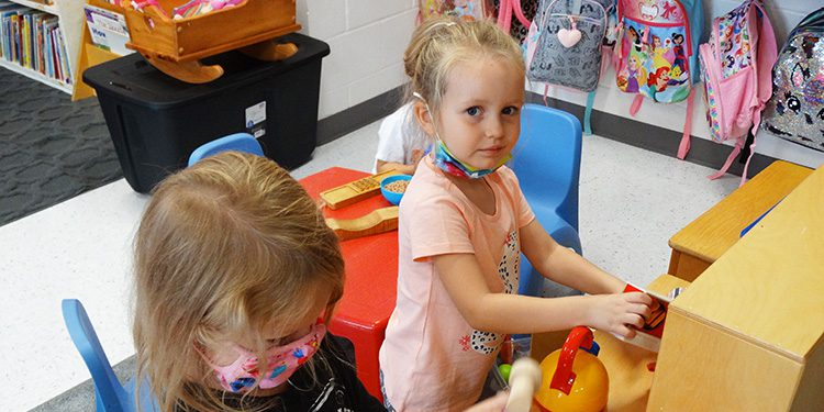 Playing in the preK classroom